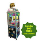 COAST TO COAST ENTERTAINMENT ZOO CATCHER CRANE Arcade Machine Game for sale