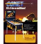 COMET Pinball Machine Game for sale