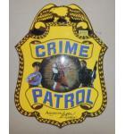 CRIME PATROL Arcade Game Machine FLEXIBLE DECAL #352 for sale