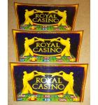 CROMPTON'S ROYAL CASINO Coin Pusher Arcade Machine Game Overhead Header - Lot of 3 for sale