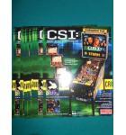 CSI Pinball Machine Game Original Sales Promotional Flyer