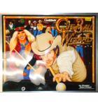 CUE BALL WIZARD Pinball Machine Game Translite Backbox Artwork #G109 for sale