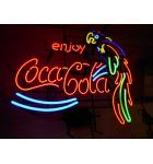Coca Cola Parrot Neon Advertising Promotion Electric Bar Sign For Sale
