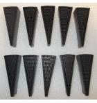 Dart Machine BLACK DART SEGMENTS for Arcade machine game for sale - Lot of 10 - #DS-0031-03-OG