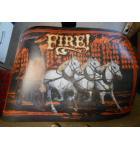FIRE! Pinball Machine Game Translite Backbox Artwork