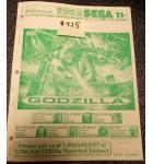 GODZILLA Pinball Machine Game Owner's Manual #425 for sale - SEGA
