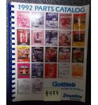 GOTTLIEB Pinball Machine Game 1992 PARTS CATALOG #488 for sale