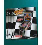 GRAND PRIX Pinball Machine Game Original Sales Promotional Flyer