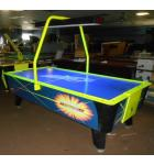 HOT FLASH II AIR HOCKEY Table by Valley Dynamo with OVERHEAD SCORING