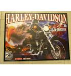 Harley Davidson 2nd Edition Pinball Machine Game Translite Backbox Artwork - Framed - Stern - For Sale