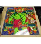 HULK Pinball Machine Game Backglass Backbox Artwork