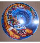 Hurricane Pinball Machine Game Screened Art Spinning Disc Backbox Artwork Translite #1233 for sale