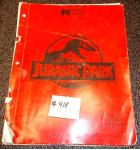 JURASSIC PARK Pinball Machine Game Owner's Manual #418 for sale - DATA EAST