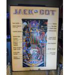 Jack Bot Original Pinball Machine Game Advertising Promotional Framed Poster for sale from 1995 - Williams