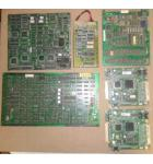 LOT of 6 UNKNOWN Arcade Machine Game PCB Printed Circuit Boards #1264 for sale