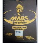 MARS GOD OF WAR Pinball Machine Game Instruction Manual #761 for sale - GOTTLIEB