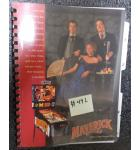 MAVERICK the MOVIE Pinball Machine Game Manual #492 for sale - DATA EAST