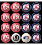 MLB BOSTON RED SOX Collector's Edition Pool Ball Set Billiard Ball Set - Home VS Away Colors