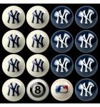 MLB NEW YORK YANKEES Collector's Edition Pool Ball Set Billiard Ball Set - Home VS Away Colors