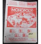 MONOPOLY Pinball Machine Game Owner's Manual #403 for sale