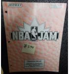 NBA JAM Video Arcade Machine Game Operational Manual #574 for sale - MIDWAY