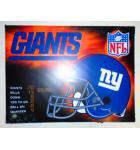 NFL GIANTS Pinball Machine Game Translite Backbox Artwork #274 for sale by Stern