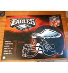 NFL Philadelphia Eagles Pinball Machine Game Translite Backbox Artwork