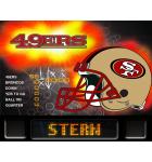 NFL SAN FRANCISCO 49ERS Pinball Machine Game Translite Backbox Artwork for sale
