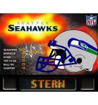 NFL SEATTLE SEAHAWKS Pinball Machine Game Translite Backbox Artwork for sale