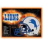 NFL DETROIT LIONS Pinball Machine Game Translite Backbox Artwork for sale - New/Old Stock