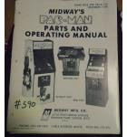 PAC-MAN Video Arcade Machine Game Parts and Operating Manual #590 for sale - MIDWAY