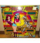 PINBALL POOL Pinball Machine Game Backglass Backbox Artwork - #PP2 by GOTTLIEB