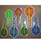 PRIZE LOCKER Redemption Machine Game KEY Decals #1258 for sale