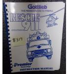 RESCUE 911 Pinball Machine Game Instruction Manual #517 for sale - GOTTLIEB