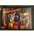 Ripley's Believe It Or Not Pinball Machine Game Translite Backbox Artwork - Framed - Signed by Pat Lawlor - Stern - for sale