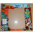 SCRAMBLE Arcade Machine Game GLASS Marquee Graphic Artwork #1207 for sale