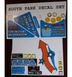 SEGA SOUTH PARK Pinball Machine Game PARTIAL Decal Set for sale