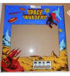 SPACE INVADERS SILVER ANNIVERSARY EDITION Arcade Machine Game GLASS Marquee Graphic Artwork #1203 for sale