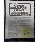 STAR TECH JOURNAL VOLUME 5 NUMBER 1 MARCH 1983 Technical Monthly Publication #26