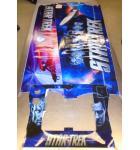 STAR TREK PRO Pinball Machine Game Cabinet Artwork 3 piece Decal Set imperfections NOS #50