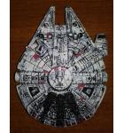 STAR WARS PREMIUM / LE Pinball Machine Game MOLDED MILLENNIUM FALCON STARSHIP PLAYFIELD TOY for sale