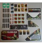 STERN THE WALKING DEAD Pinball Machine Game 45 Piece Decal Set