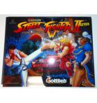 STREET FIGHTER II Pinball Machine Game Translite Backbox Artwork #W22 for sale