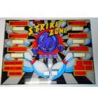STRIKE ZONE Shuffle Bowler Arcade Machine Game Backglass Backbox Artwork PLEXIGLASS #W19 for sale