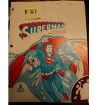 SUPERMAN Arcade Machine Game OPERATION, MAINTENANCE and SERVICE MANUAL, ILLUSTRATED PARTS CATALOG & SCHEMATIC PACKAGE #767 for sale