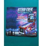 STAR TREK Pinball Machine Game Original Sales Promotional Flyer