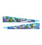 Stern Teenage Mutant Ninja Turtles Pinball Machine Game Custom Officially Licensed Art Blades Accessory #502-7085-Q7