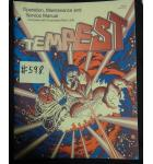 TEMPEST Video Arcade Machine Game Operation, Maintenance and Service Manual #598 for sale - ATARI