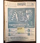 TERMINATOR 3 Pinball Machine Game Owner's Manual #414 for sale