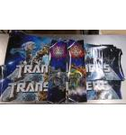 TRANSFORMERS DECEPTICON VIOLET LE Pinball Machine Game Cabinet Art 4 piece Decal Set by Stern